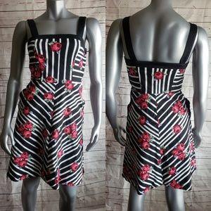 Bea & Dot By Modcloth Rose Striped Dress Sz M